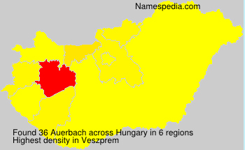 Surname Auerbach in Hungary