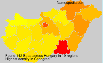 Surname Baba in Hungary