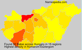 Surname Babai in Hungary