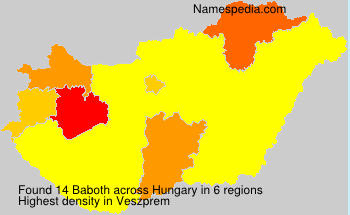 Surname Baboth in Hungary