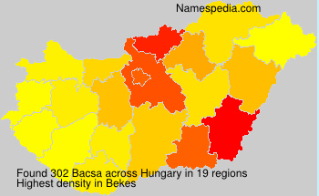 Surname Bacsa in Hungary