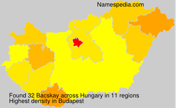 Surname Bacskay in Hungary