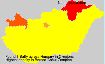 Surname Baffy in Hungary