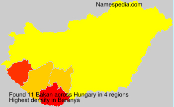 Surname Bakan in Hungary