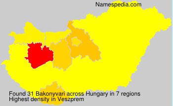Familiennamen Bakonyvari - Hungary