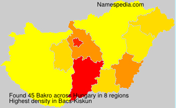 Surname Bakro in Hungary
