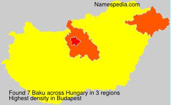 Surname Baku in Hungary