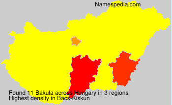 Surname Bakula in Hungary