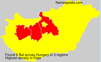 Surname Bal in Hungary
