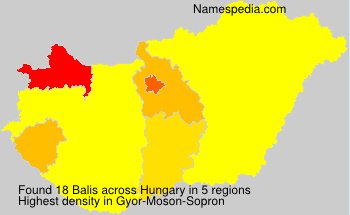 Surname Balis in Hungary