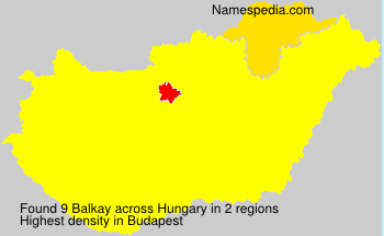 Surname Balkay in Hungary