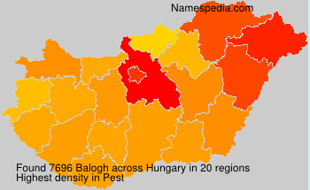 Surname Balogh in Hungary