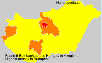 Surname Bambach in Hungary