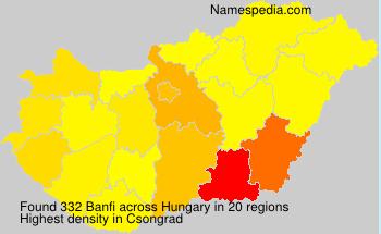 Familiennamen Banfi - Hungary