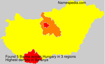 Surname Banna in Hungary