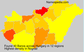 Surname Banos in Hungary