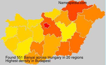 Surname Banyai in Hungary