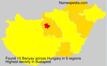 Surname Banyay in Hungary