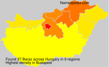 Surname Baraz in Hungary