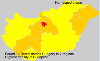 Surname Barcsi in Hungary