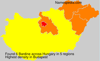Surname Bardine in Hungary