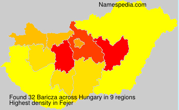 Surname Baricza in Hungary