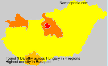 Surname Barothy in Hungary