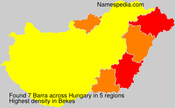 Surname Barra in Hungary