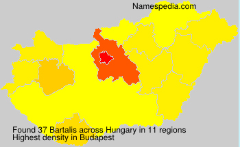 Surname Bartalis in Hungary