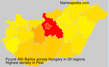 Surname Bartos in Hungary