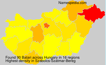 Surname Batari in Hungary
