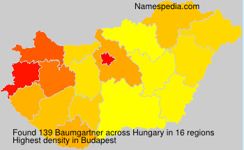 Surname Baumgartner in Hungary