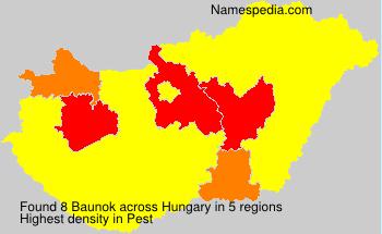Surname Baunok in Hungary