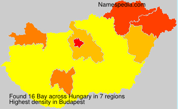 Surname Bay in Hungary