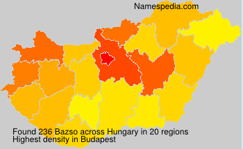 Surname Bazso in Hungary