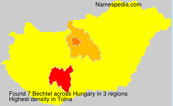 Surname Bechtel in Hungary