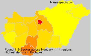 Familiennamen Becker - Hungary