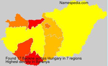 Surname Beckne in Hungary