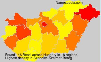 Surname Becsi in Hungary