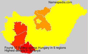 Surname Bedegi in Hungary