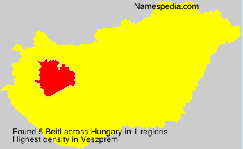 Surname Beitl in Hungary