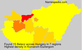 Surname Belecz in Hungary