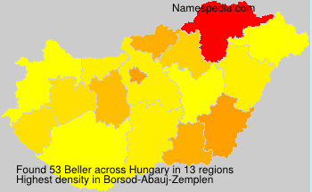 Surname Beller in Hungary