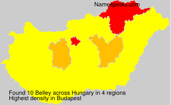 Surname Belley in Hungary