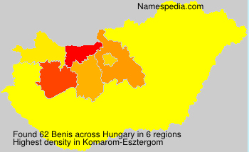 Surname Benis in Hungary