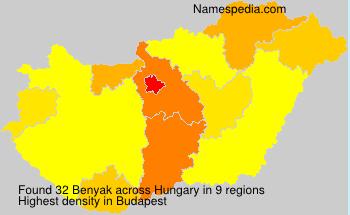 Familiennamen Benyak - Hungary