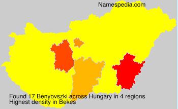 Familiennamen Benyovszki - Hungary