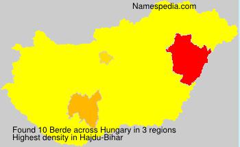 Surname Berde in Hungary