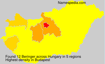 Surname Beringer in Hungary