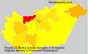Surname Berka in Hungary